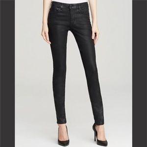 Joe's Coated Black Mid-Rise Skinny Jeans